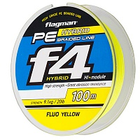 Шнур Flagman PE Hybrid F4 yellow 0,12
